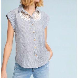 NWT Anthropologie Maeve Linen Camp Shirt